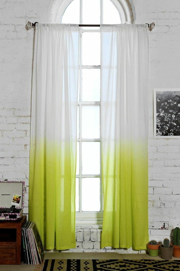 curtains with ombre effect