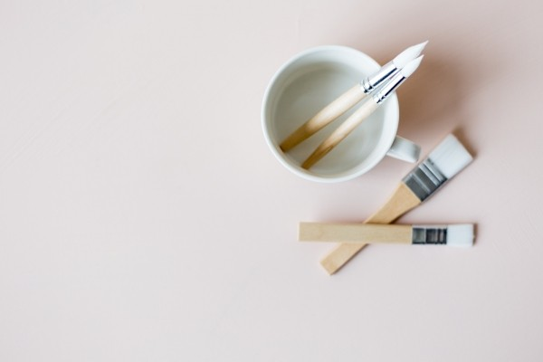 mugs paint matching brushes