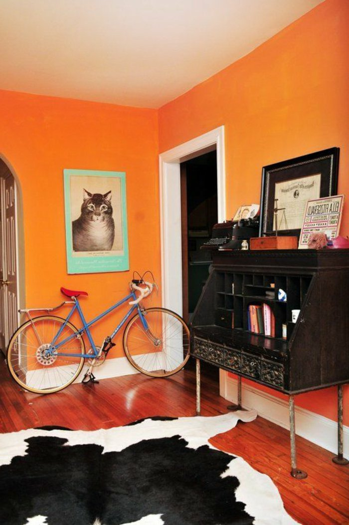 wall colors ideas furnishing examples wood orange young