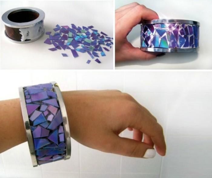 recycling bastelin with cds upcycling ideas wall deco ideas make jewelry yourself