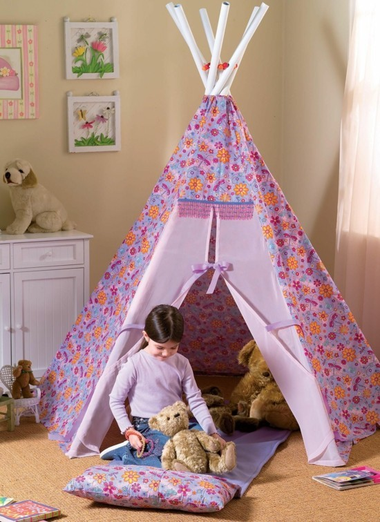 build your own teepee for the girl's nursery
