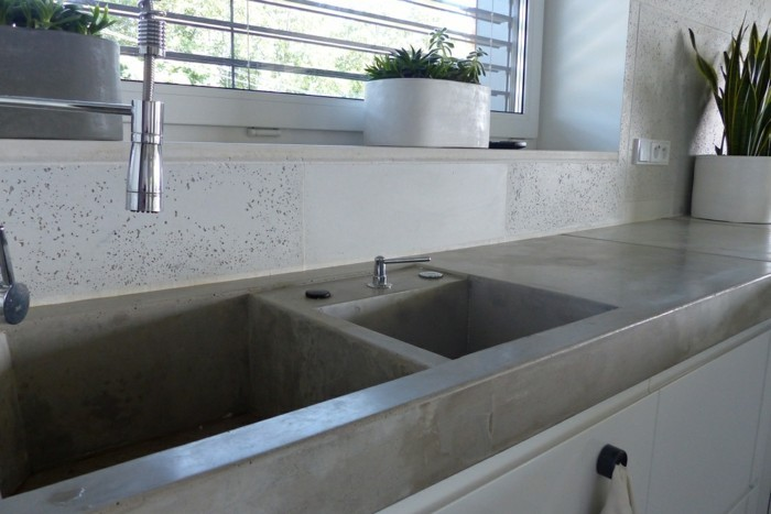 robustness and stability of a concrete countertop