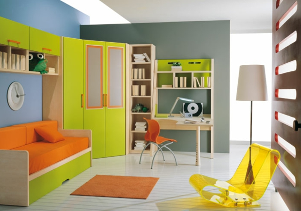 modern youth room design combination of colors