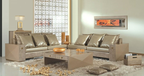 cheap sofa in gold