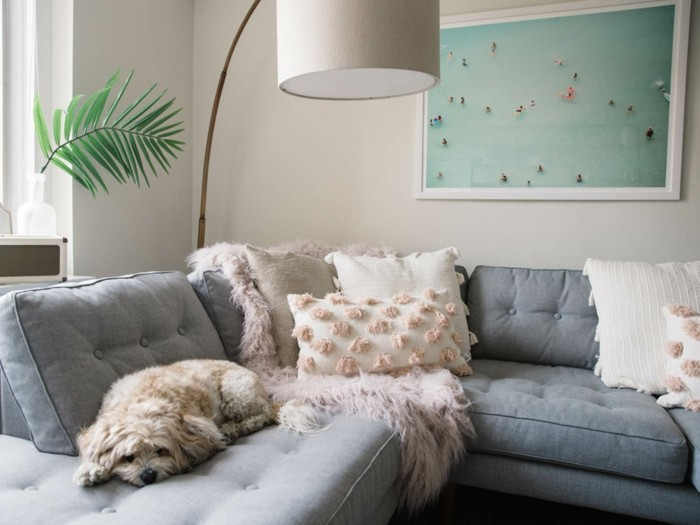 throw pillow with fringe sofa gray dog bow lamp