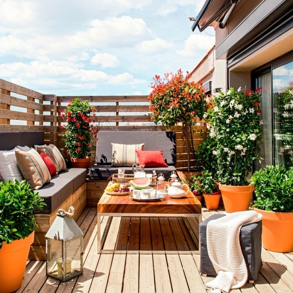 Terrace decorate balcony