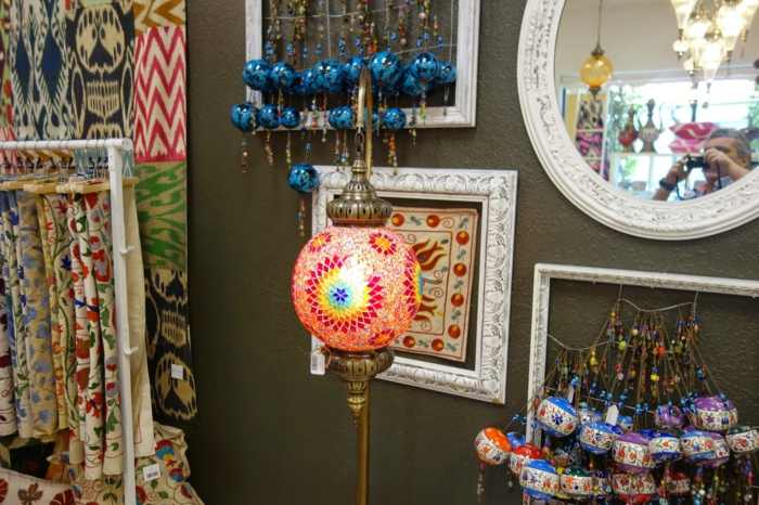 oriental lamps round light colorful glass mosaic