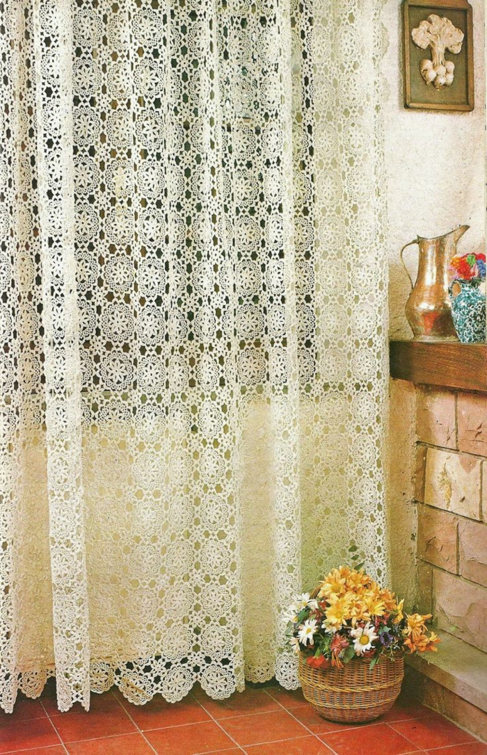 crocheted curtains long chic fresh pattern