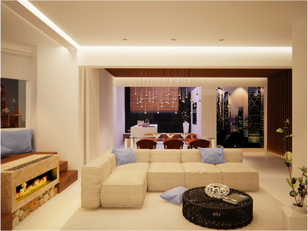 gorgeous modern living room designs white couch wicker hearth