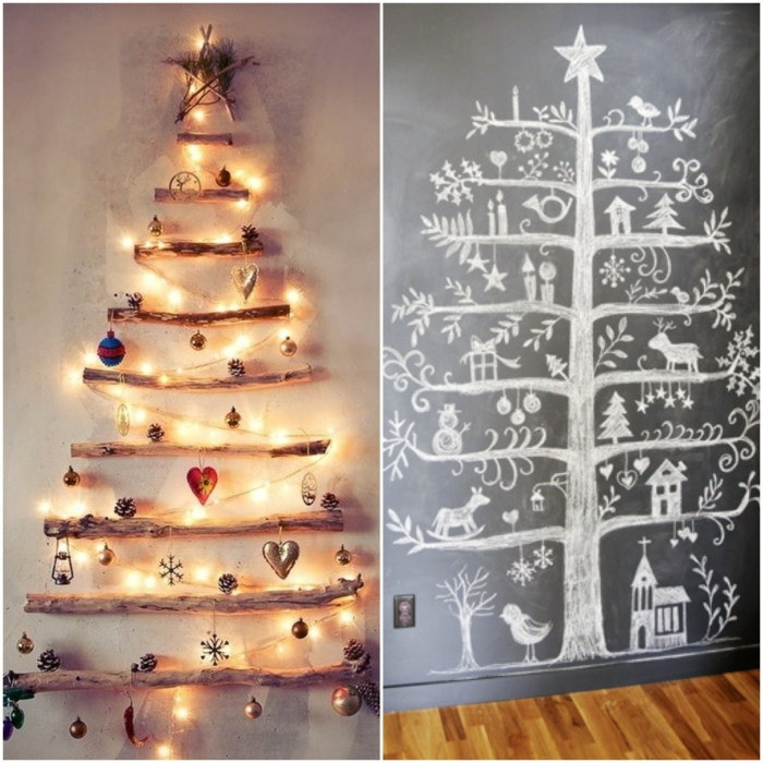 Christmas tree artificially artificial Christmas tree test by wall wall stickers painting