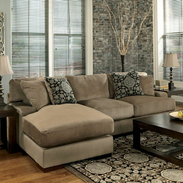 living room design great accent wall beige corner sofa