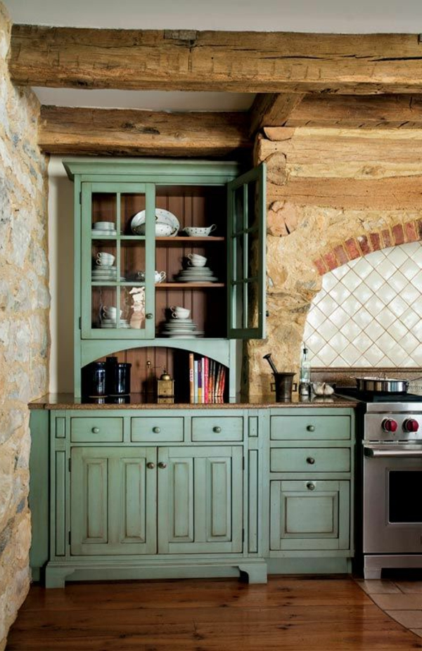 closet kitchen colonial furniture light green