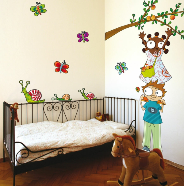 kids room wall stickers cot toy