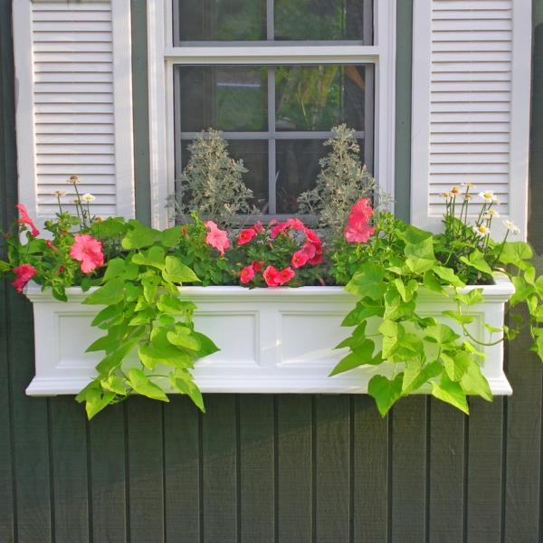 flower box white design planting window decorating