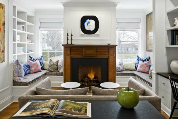 living room design colored pattern throw pillow fresh fireplace