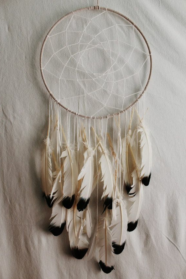 dreamcatcher yourself crafts feathers black white