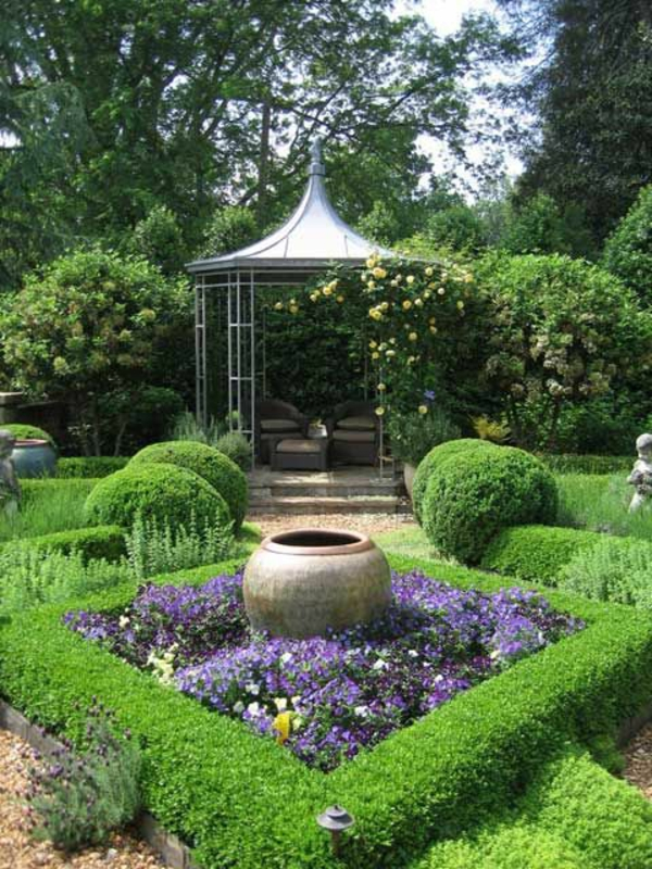 garden gazebo metal open boxwood