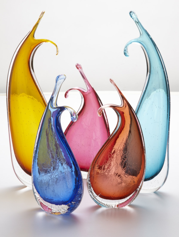 glass vases living room decorations colored