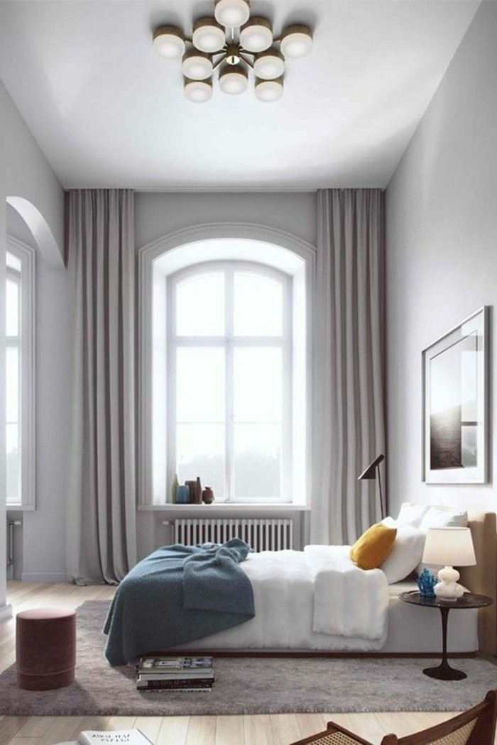 consider privacy in the bedroom bright curtains are a great solution