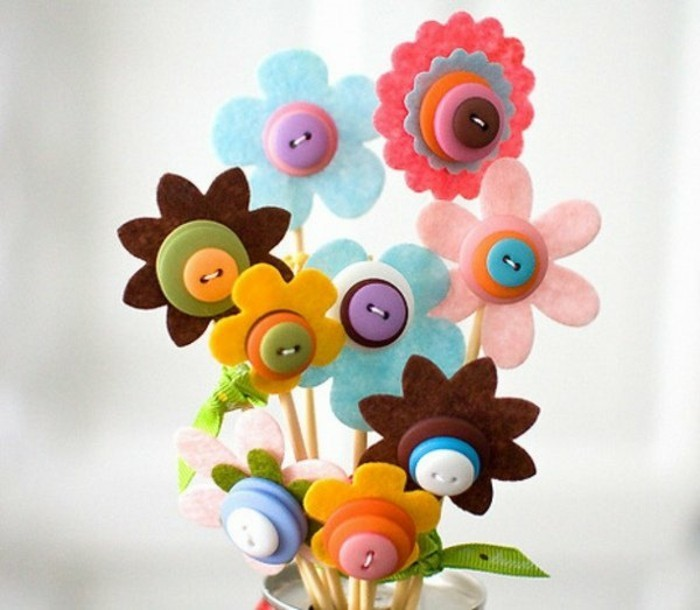 tinker with buttons diy ideas deco ideas flowers