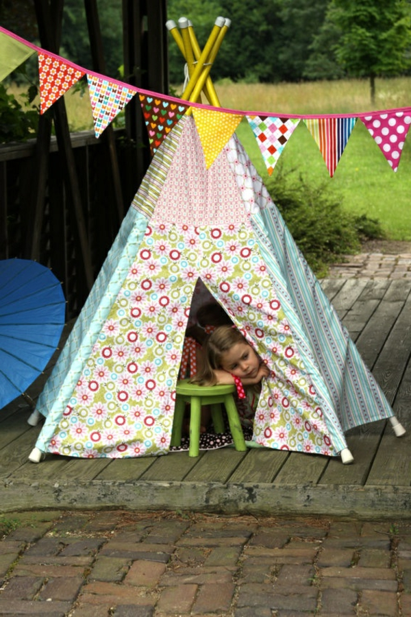 playful tents for children colorfully patterned