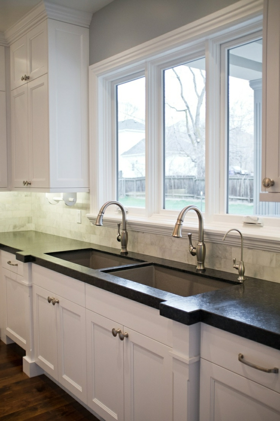 modern kitchen kitchen sink double sink cabinet