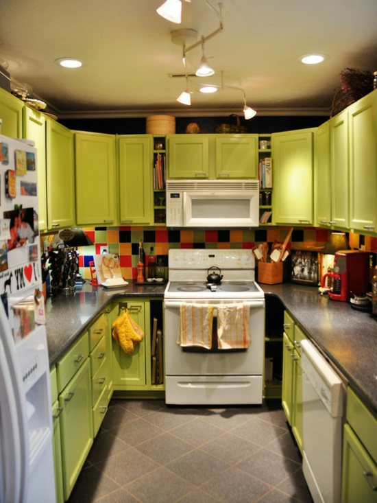 color ideas for kitchen green fresh wood cabinets light green