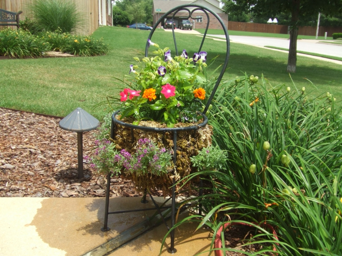 garden beautify cool garden ideas sustainable reuse old chairs