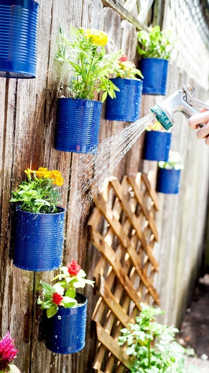 ideas for the garden bin ideas with old cans