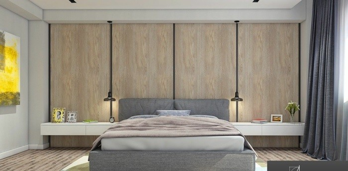 Wall design made of wood