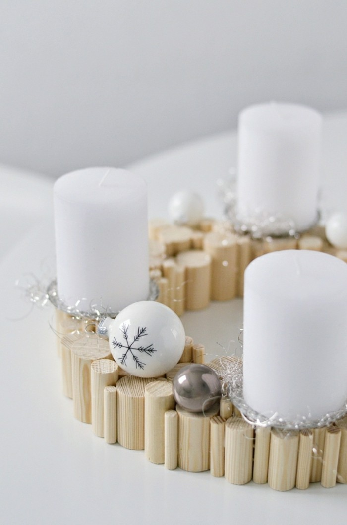 diy advent wreath symbols of the feast - datail