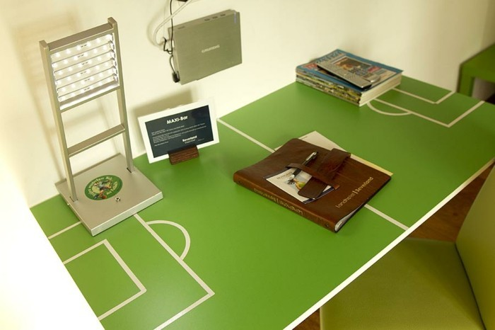 Nursery decor football design interior ideas table