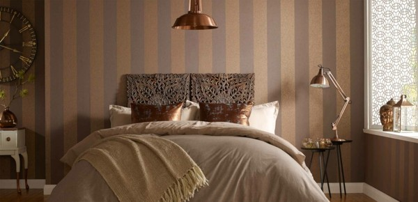 vertical stripes wallpaper bedroom