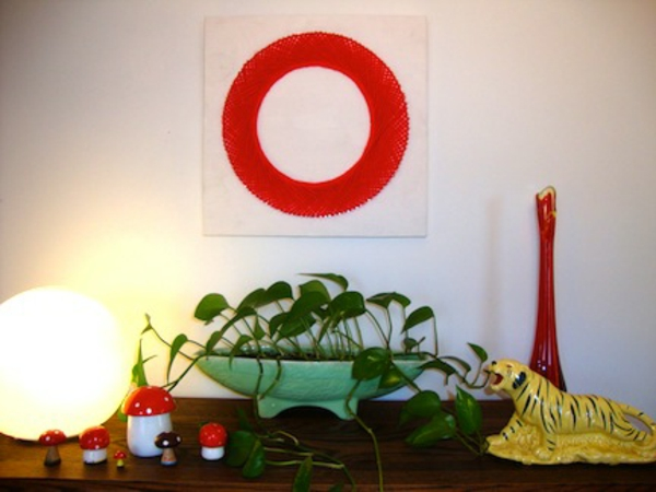 Create your own canvas pictures diy red ring