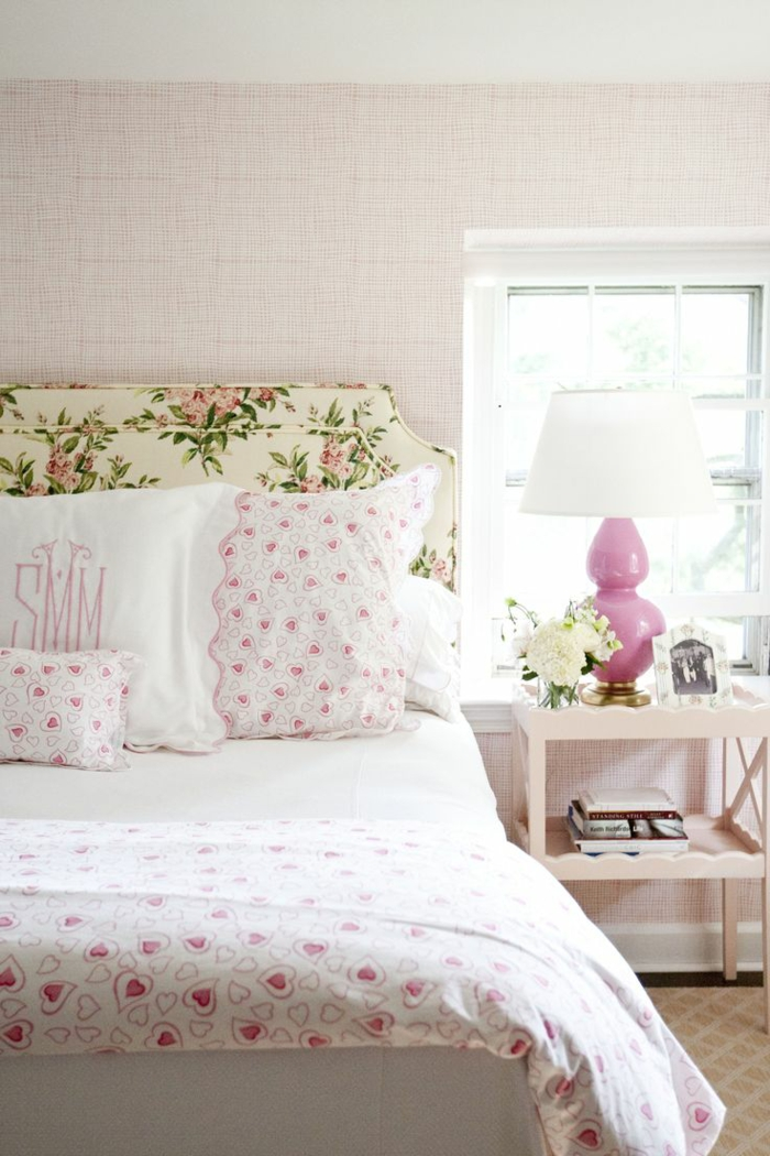 deco flowers bedroom decorate fabric pattern hearts
