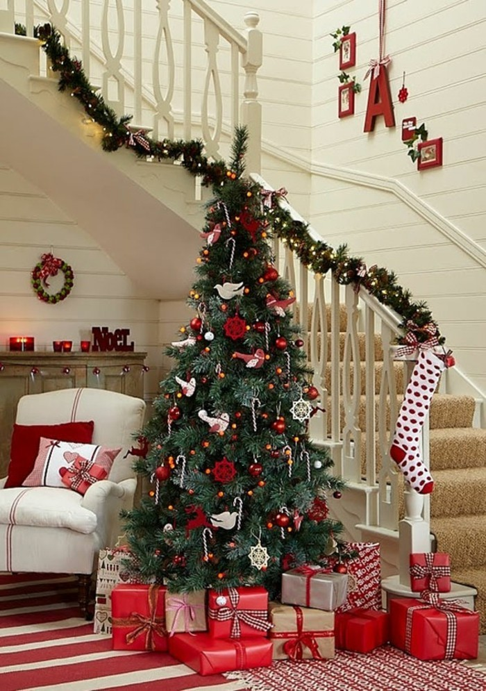 decorate christmas christmas decoration staircase