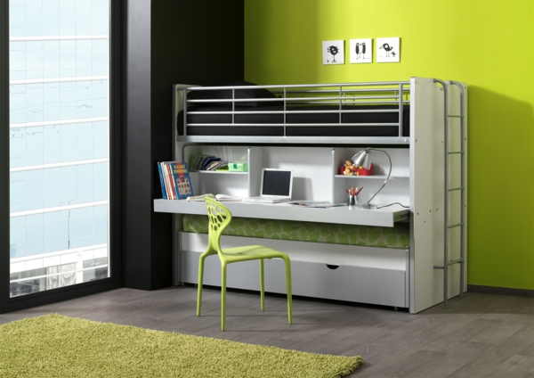 Small children's room set up children's beds children's room ideas BOHS8009 SILVER-3