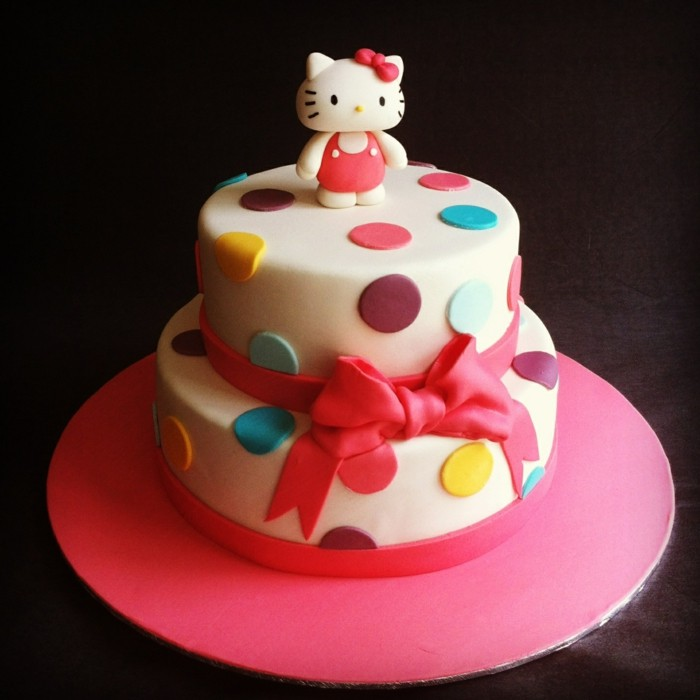 cakes decorate hello kitty decoration from fondant