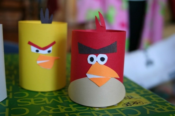 tinkering with toilet paper rolls diy ideas decorating ideas tinkering with kids angry burds