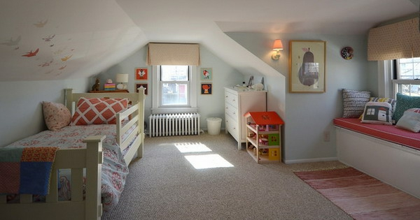 children's room pitched design