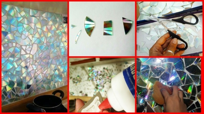 recycling craft with cds upcycling ideas wall decor ideas candlesticks light reflector decor