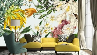Photo of One of the best murals – 30 designs with floral wallpaper