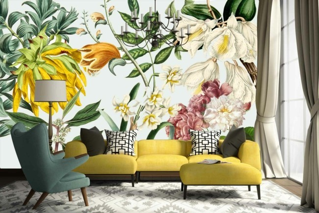 floral wallpaper cool ideas