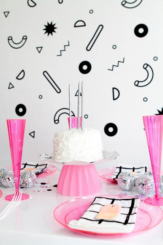 wall decoration ideas party wall decals colorful dishes