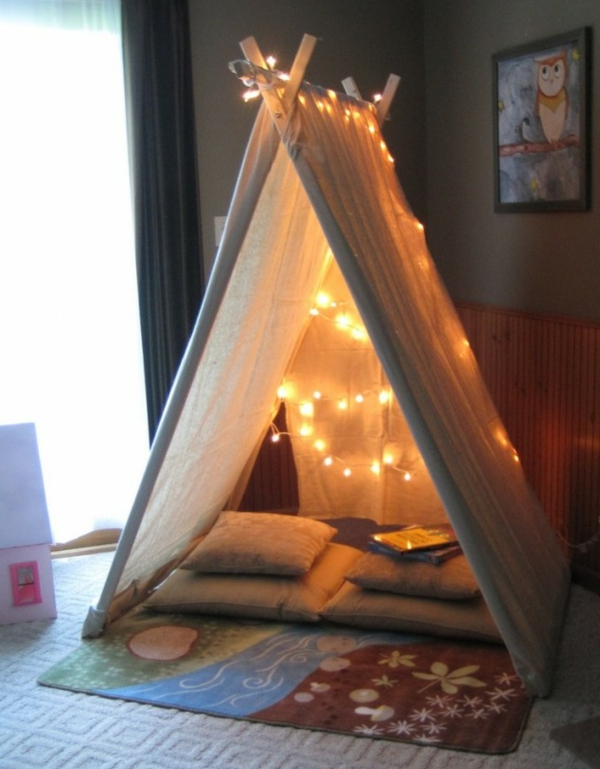playful tents for children lighting