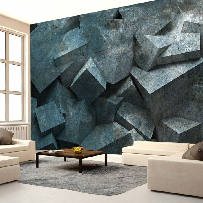 wallpaper design 3d living room