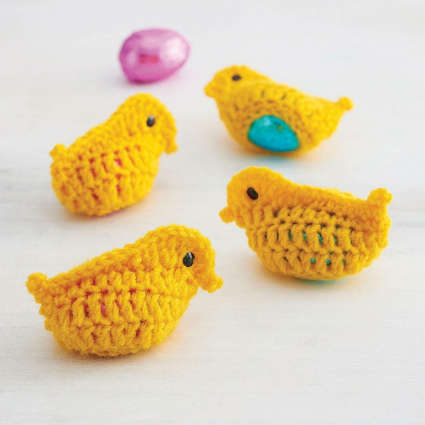 Easter decoration crochet yellow birds beautiful decoration ideas