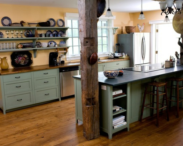 modern country kitchen kitchens light green cabinets