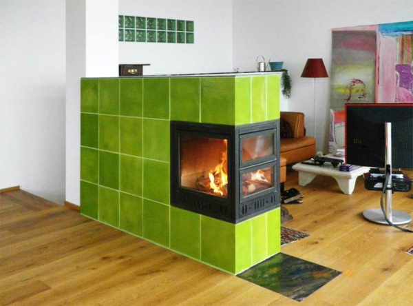 modern tiled stoves mayerofen vienna tiles green room divider open living area