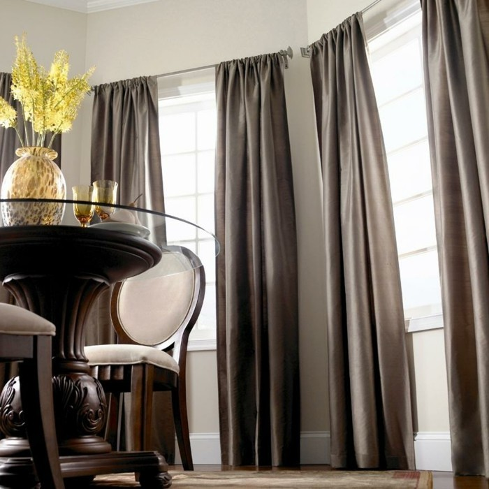 living room dining room stylish curtains for privacy and sun protection